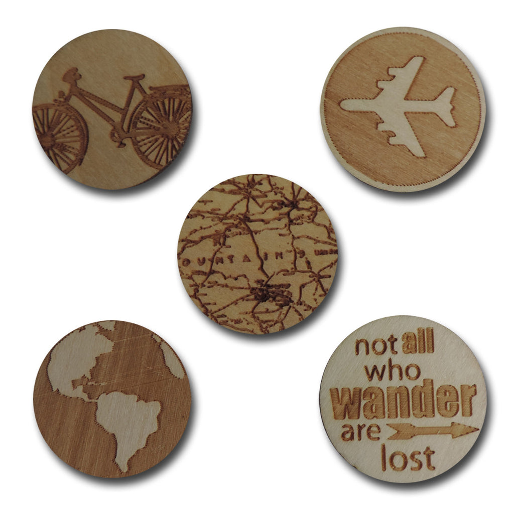 Wood Travel Tokens