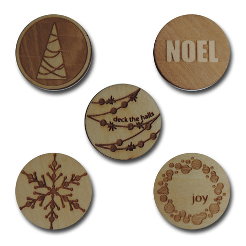 Wood Holiday Tokens