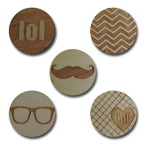 Wood Trendy Tokens
