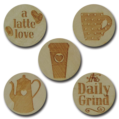Wood Daily Grind Tokens