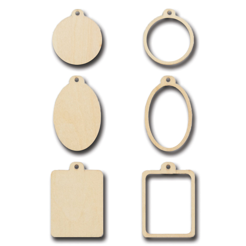 Stackable Wood Frame Charms