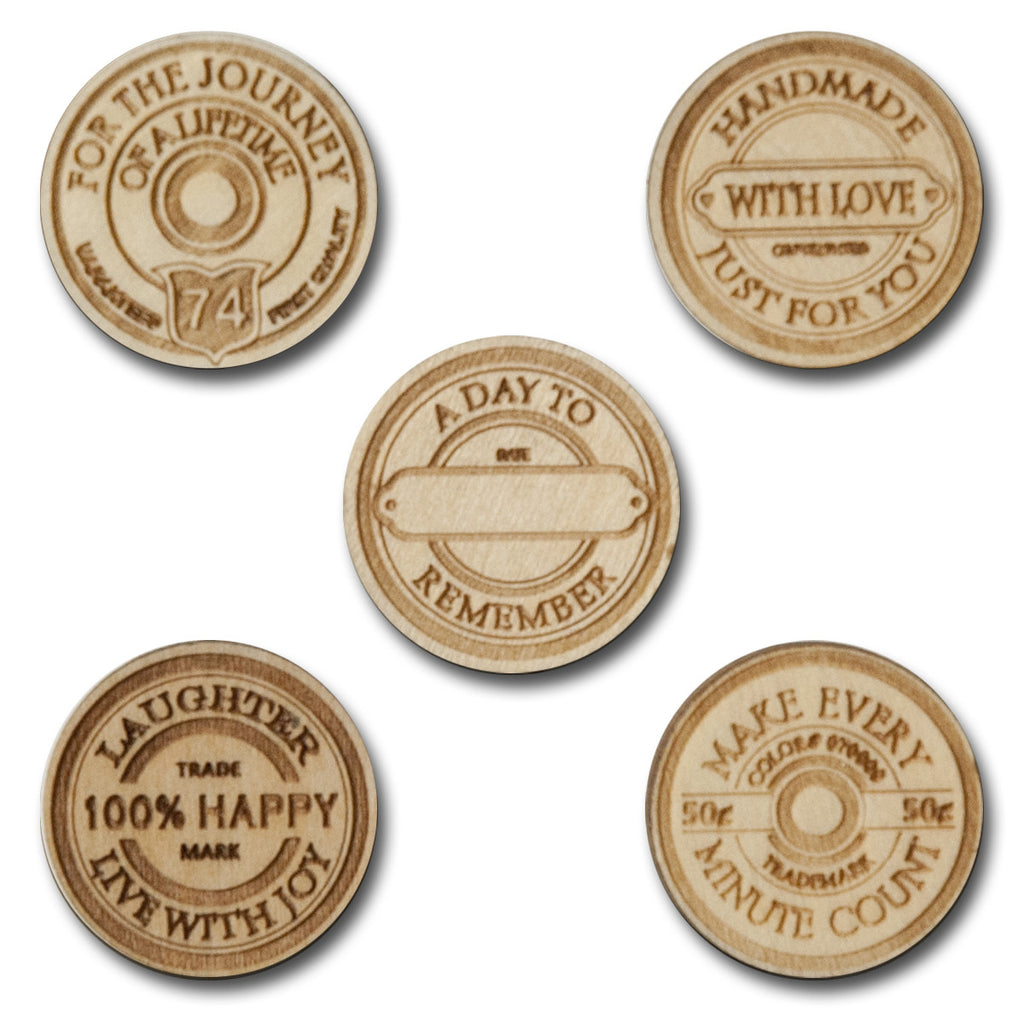 Wood Spool Sentiment Tokens