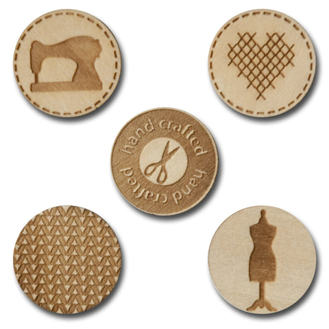 Wood Sew Cute Tokens