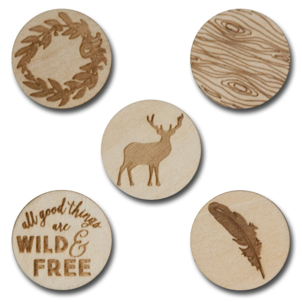 Wood Wild & Free Tokens