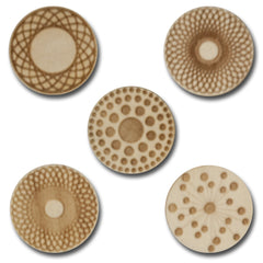 Wood Geometric Shape Tokens