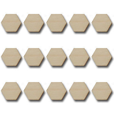Vintage Wood Hexagons