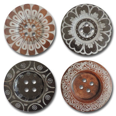 Mega Etched Wood Buttons