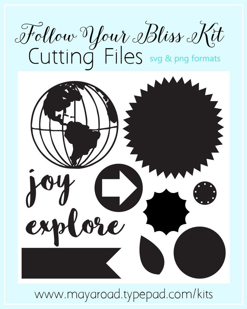 Follow Your Bliss Cutting Files - SVG and PNG - FREE