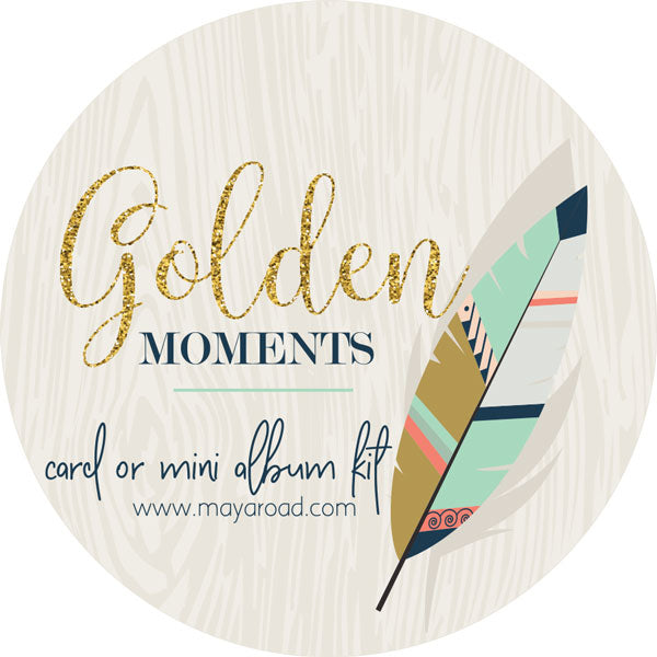 Golden Moments Card & Mini Album Kit