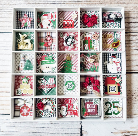 Hello Santa Christmas Countdown Shadowbox Kit