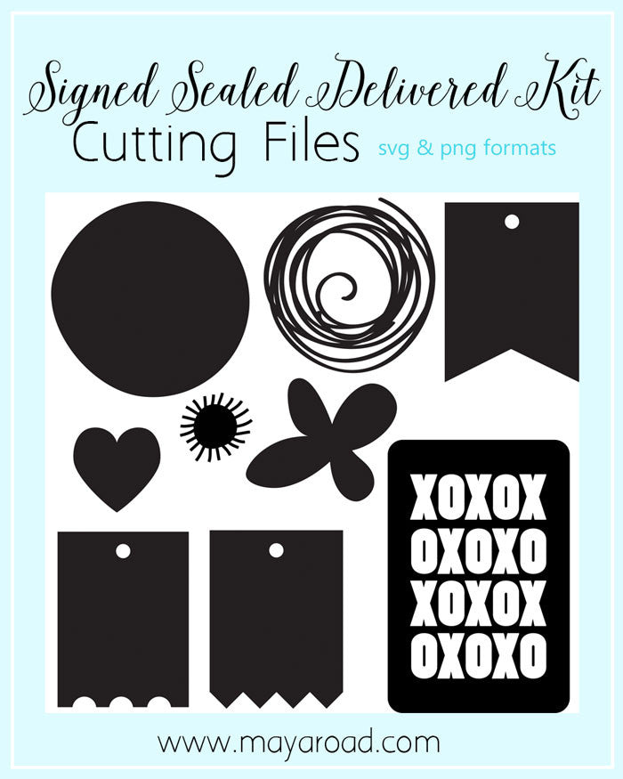 Signed Sealed Delivered Digital Cutting Files - SVG and PNG