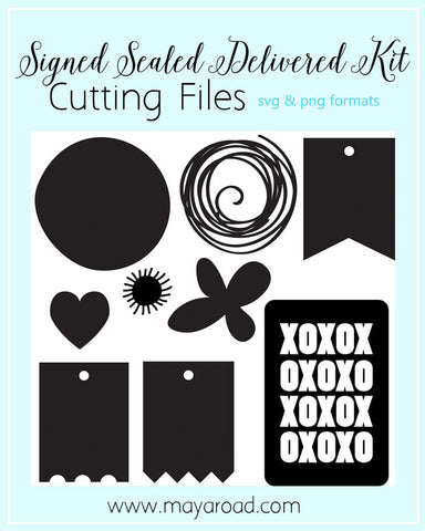 Signed Sealed Delivered Digital Cutting Files SVG Format