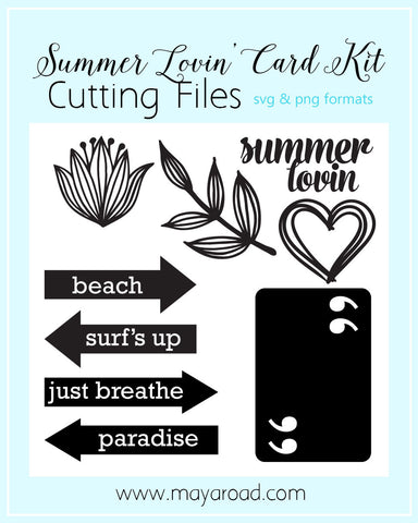 Summer Lovin' Digital Cutting Files - SVG and PNG