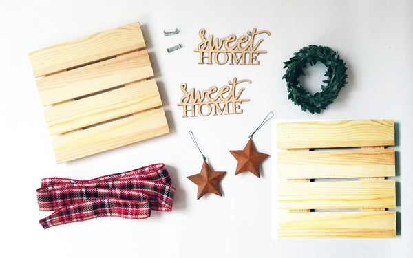 Sweet Home Christmas Wreath Kit