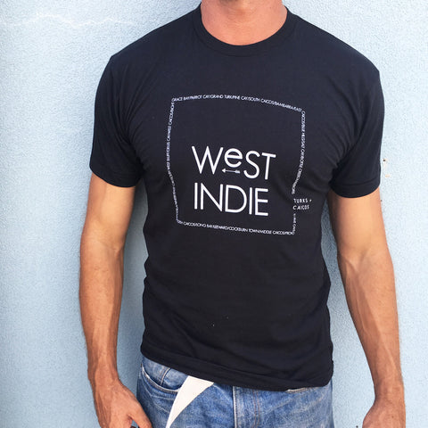 Men's West Indie place names tee MORE COLOURS AVAILABLE