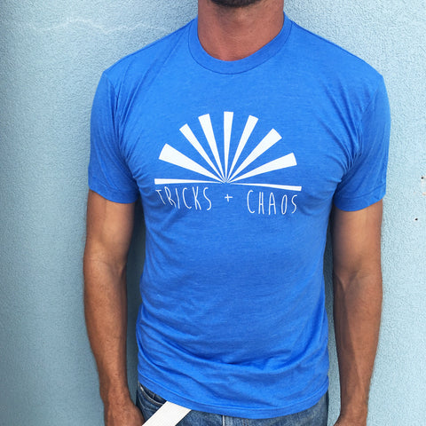 Men's Tricks + Chaos Sunrise tee MORE COLOURS AVAILABLE