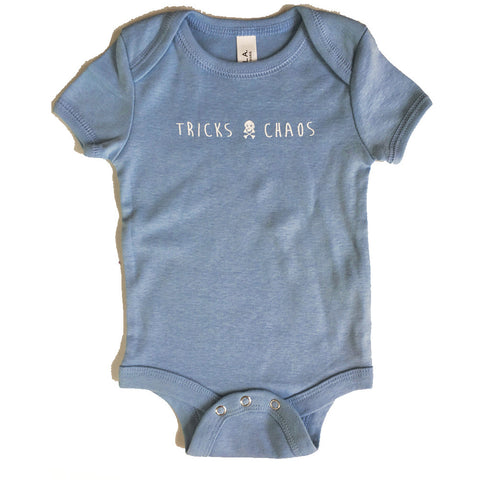 Baby Tricks + Chaos onesie MORE COLOURS AVAILABLE