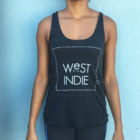Women's West Indie TCI place names racer back tank MORE COLOURS AVAILABLE