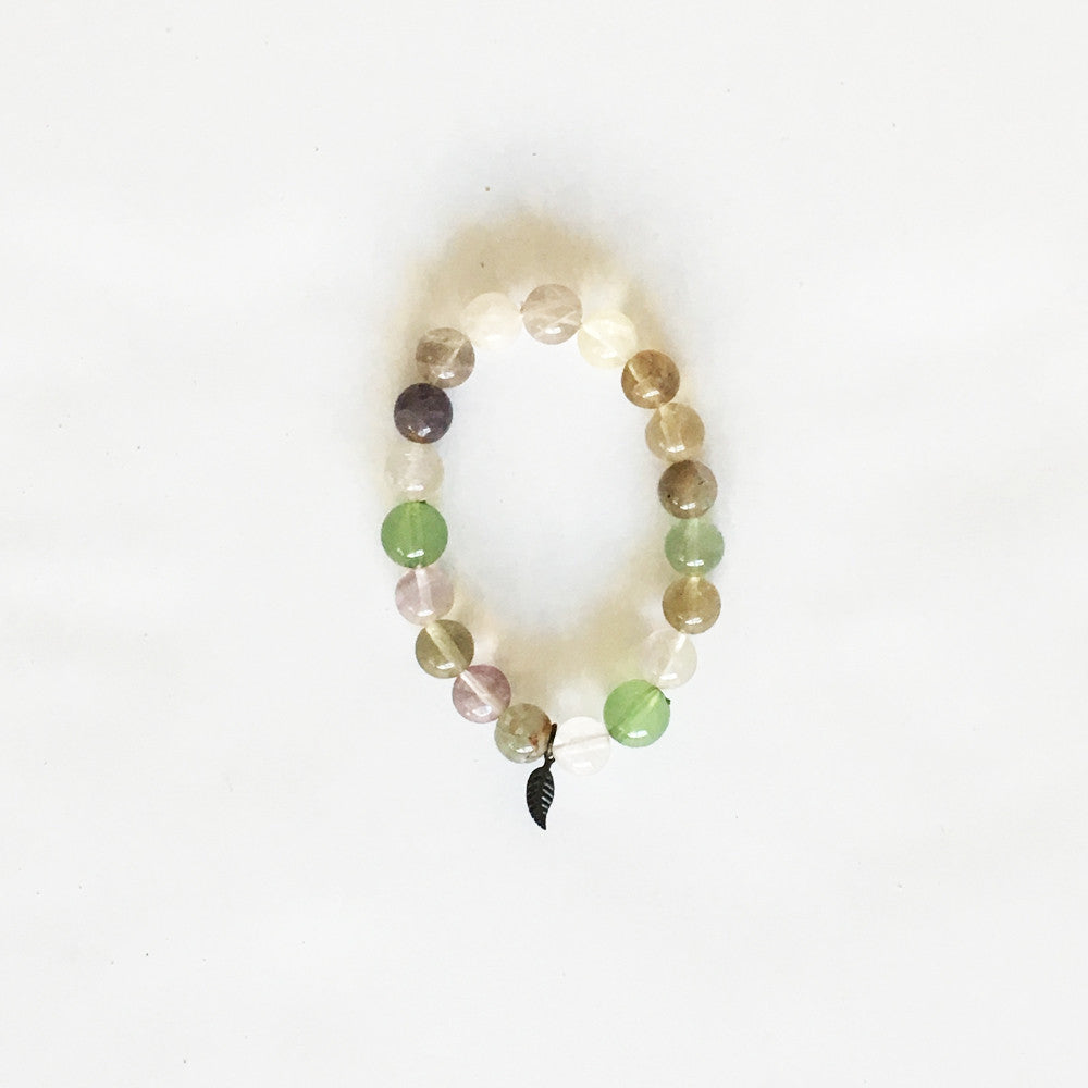 HANDMADE GLASS MALA BRACELET ~ MULTICOLOUR