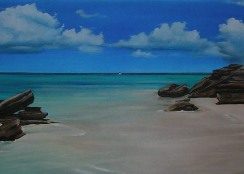 Water Cay Seascape Print