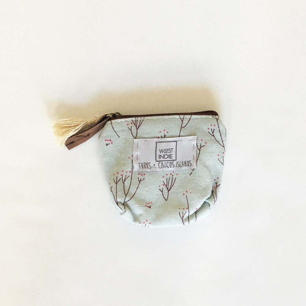 WEST INDIE COIN PURSE ~ BLUE