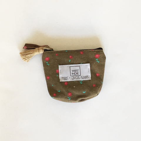 WEST INDIE COIN PURSE ~ BROWN