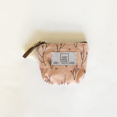 WEST INDIE COIN PURSE ~ PINK