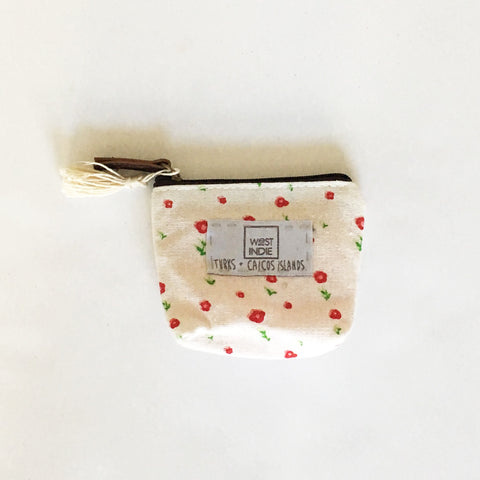 WEST INDIE COIN PURSE ~ WHITE