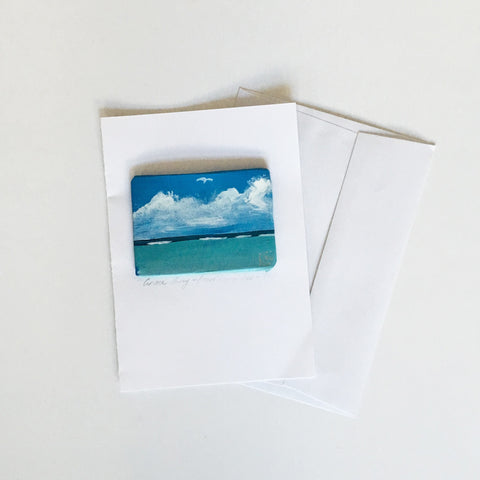 HAND PAINTED SEASCAPE CARD