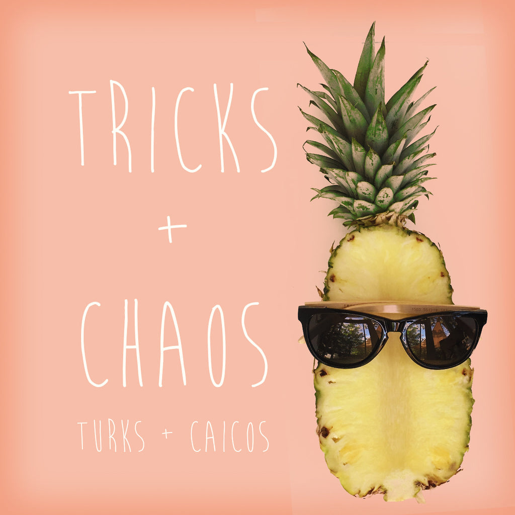Tricks + Chaos black geometric Ligna sunglasses