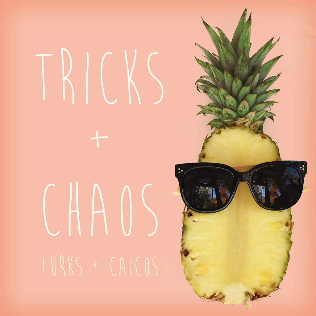 Tricks + Chaos tri dot black Ligna sunglasses