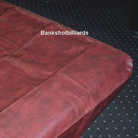 8' NAUGAHYDE pool table COVER  fitted 100 x 56 x 8 Burgundy / Mahogany.