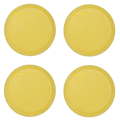 "4 Lg Yellow Commercial Air Pucks for Table Hockey 3.25""."
