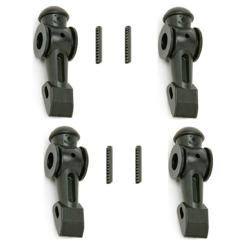 4 Black Tornado Foosball Player Men: w/ roll pin OEM parts Counterweighted.