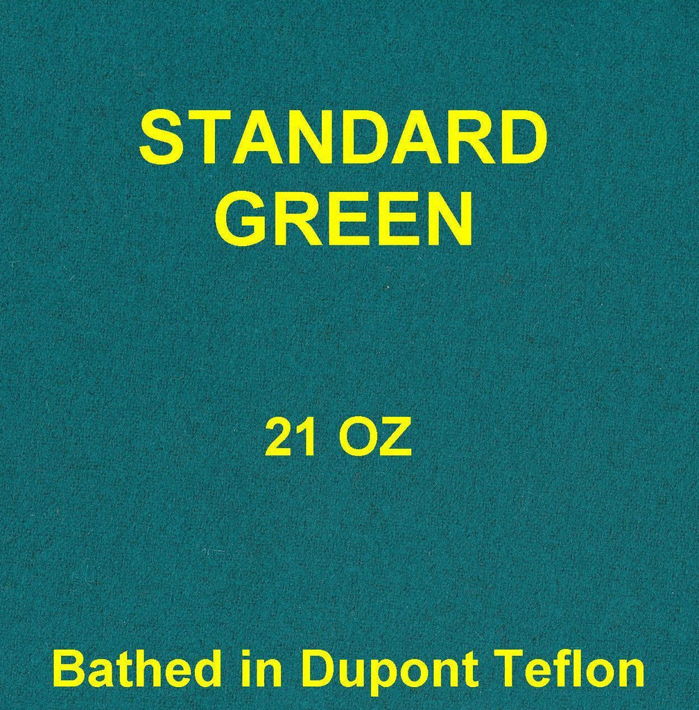 Teflon Green Billiard 7' pool table FELT cloth fabric 21 oz.
