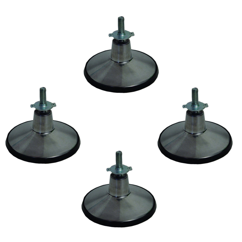 4 Pool Table Leg Leveler Adjustable Chrome Feet Set