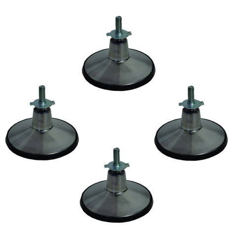 4 Pool table LEG LEVELER adjustable chrome feet SET.
