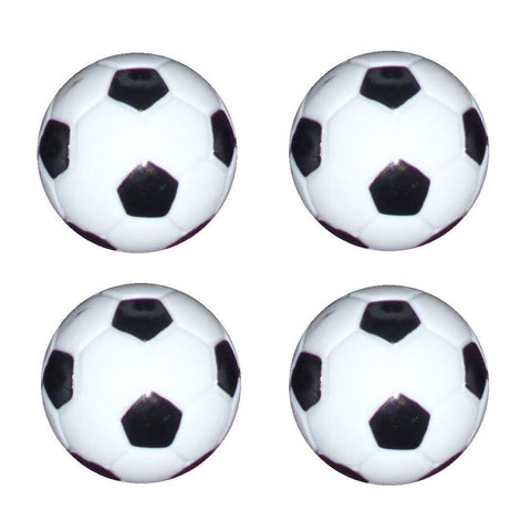 4 Table Soccer  Foosball Black / White Foos Ball engraved parts.