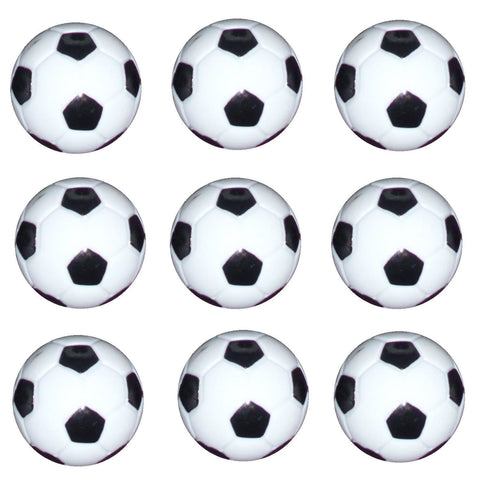 9 Table Soccer Foosball B/W Foos Ball engraved parts.
