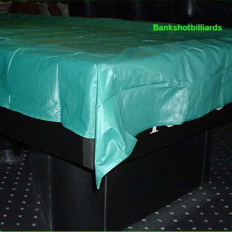 9' billiards Pool table COVER green new w/ weighted corners.