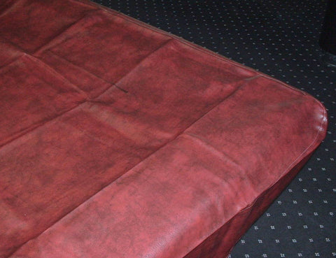 7' NAUGAHYDE pool table COVER  fitted 88 x 48 x 8 Burgundy.