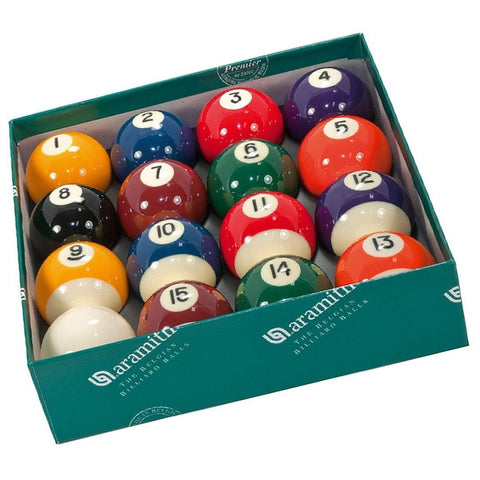 Aramith Pool Ball Set PREMIER Belgium w/ cue ball pool.