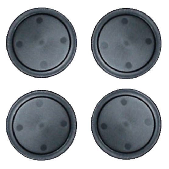 4  Black Home Air Pucks 2.5 inch for Table Hockey.