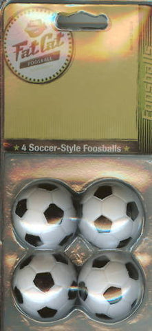 4 Pack Fat Cat Soccer-Style Foosballs Foos Ball 35mm.