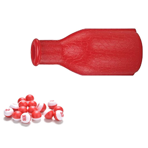 Kelly Pool Shaker Bottle Red w/ Red-white Peas