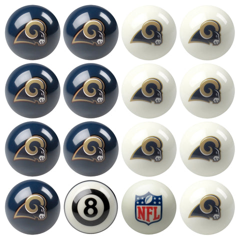 NFL Saint Louis Rams Pool Ball Set