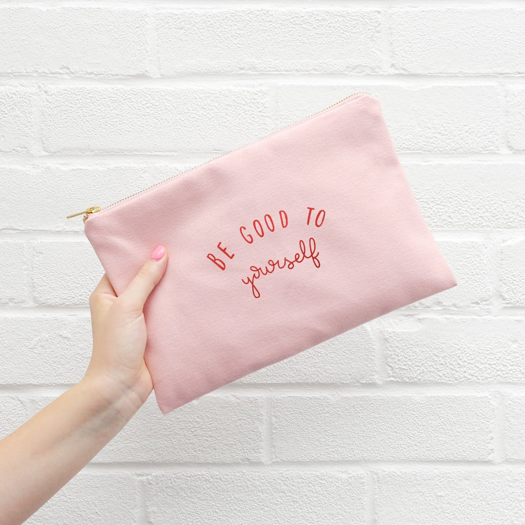 Gift for New Mum - Pink Canvas Pouch