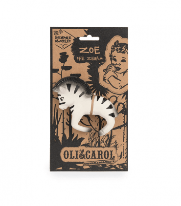 Oli & Carol Zebra Teether - Baba Box