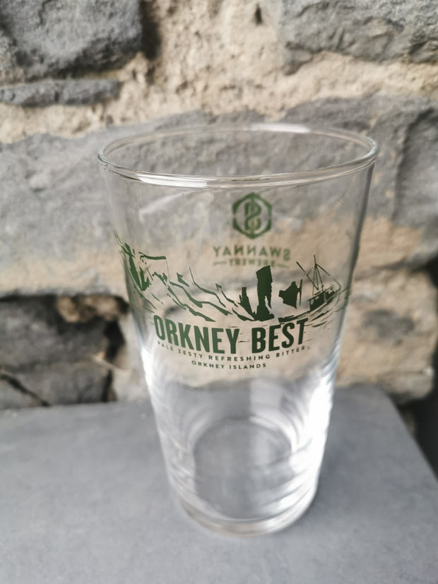Orkney Best Conical Pint Glass