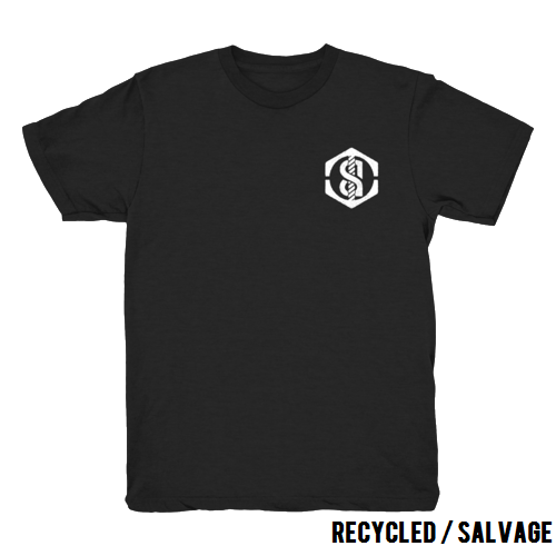 Recycled t-shirt (black)